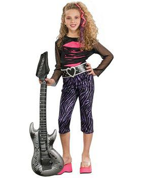 Kids 80s Rock Star Costume for Girls