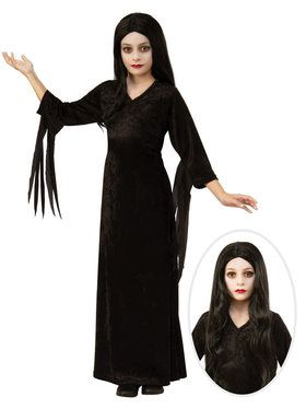 Kids Addams Family Morticia Costume Kit