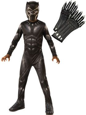 Kids Avengers Endgame Black Panther Costume Kit