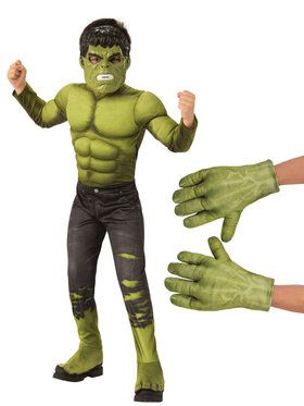 Kids Avengers Endgame Hulk Costume Kit