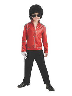 "Michael Jackson ""Beat It"" Red Zipper Kids Jacket"