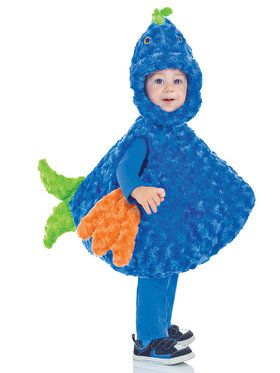 Kids Big Mouth Blue Fish Costume