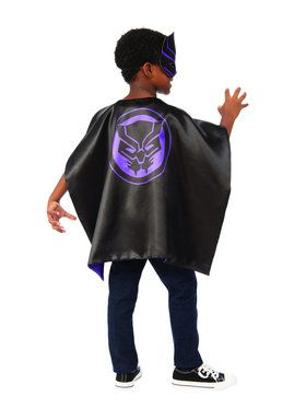 Kids Black Panther Child Cape Set