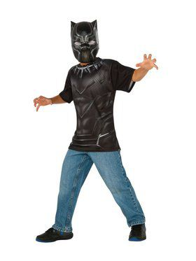 Child Black Panther Top and Mask