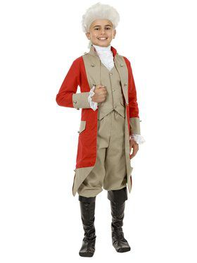 Kids British Red Coat Costume