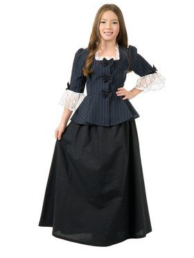 Kids Colonial Girl Martha Washington Costume