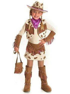 Girls Rhinestone Cowgirl Costume for Halloween