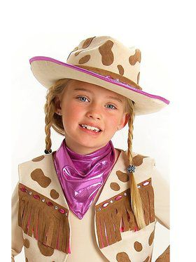 Kids Deluxe Rhinestone Cowgirl Hat