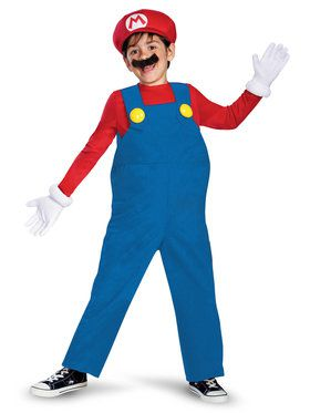Kids Deluxe Super Mario Bros Mario Costume
