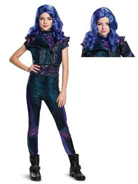 Kids Descendants Mal Costume Kit L