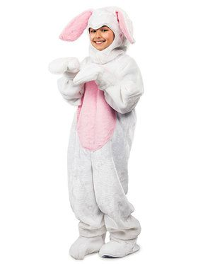 Kids Easter Bunny Suit White Costume