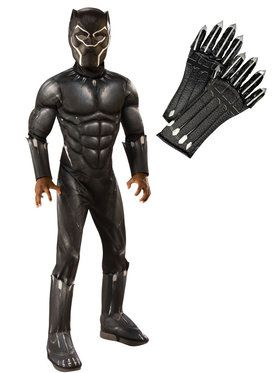 Kids Endgame Black Panther Deluxe Costume Kit