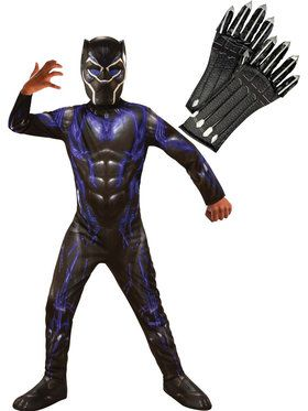 Kids Endgame Black Panther Purple Costume Kit