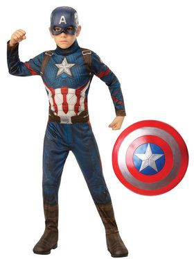 Kids Endgame Captain America Costume Kit