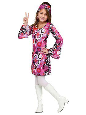 Kids Feelin Groovy Disco Costume for Girls