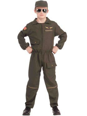Kids Fighter Jet Pilot Costume
