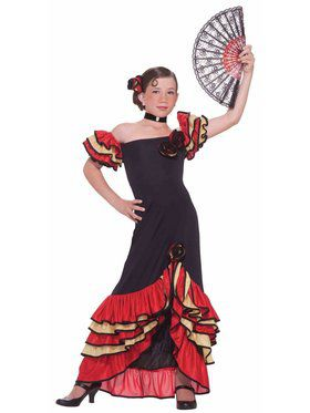 Kids Flamenco Girl Costume for Girls
