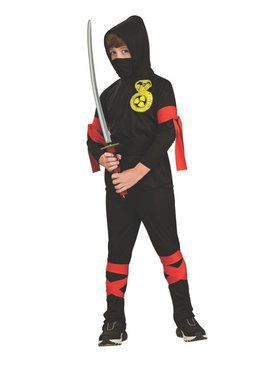 Black Ninja Fuller Cut Costume for Kids