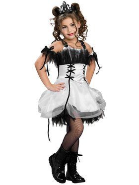 Kids Gothic Ballerina Costume for Girls