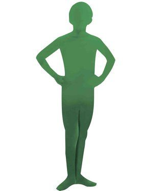 Kids Green I'm Invisible Skin Suit