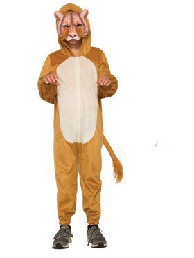 Lion Jumpsuit with Mask Costume for Kids