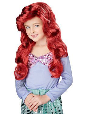 Kid's Magical Mermaid Wig Auburn