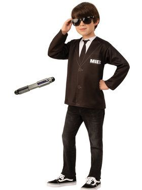 Kids Men In Black Costume Kit