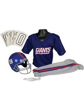 Kids NFL Giants Helmet and Uniform Set