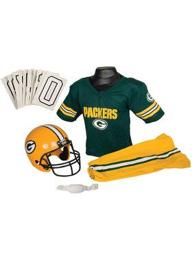 Kids NFL Packers Helmet and Uniform Set