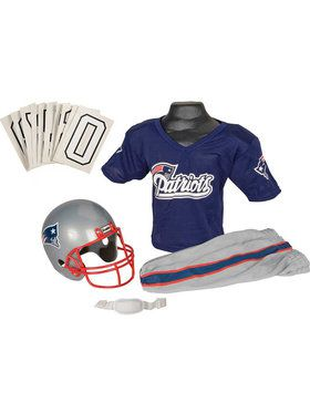 Kids NFL Patriots Helmet And Uniform Set
