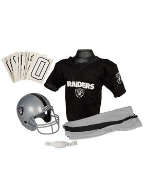 Kids NFL Raiders Helmet and Uniform Set