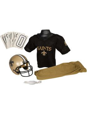 Kids NFL Saints Helmet and Uniform Set