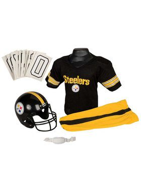 Kids NFL Steelers Helmet and Uniform Set