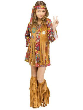 Peace and Love Hippie Costume For Children