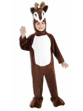 Kids Plush Reindeer Mascot Costume