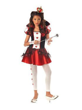 Kids Queen of Hearts Costume for Girls