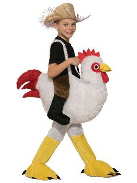 Ride-A-Chicken Kid's Costume