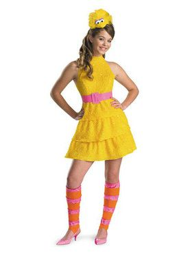 Kid's Sesame Street Big Bird Costume for Girls