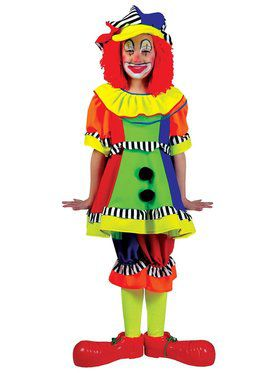 Kids Spanky Stripes Clown Costume for Girls