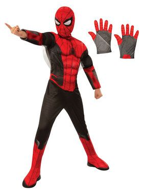 Kids Spiderman Deluxe Costume Kit - Red & Black
