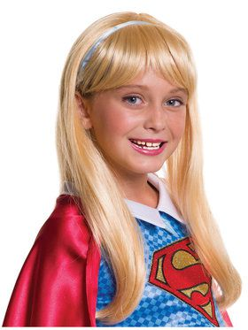 Childrens Supergirl Wig