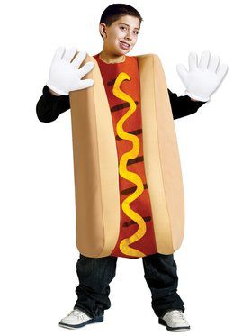 Kids Unisex Hot Dog Costume