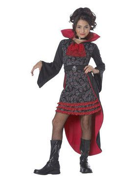 Kids Vampiress Costume for Girls