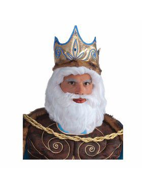 King Neptune Adult Wig White