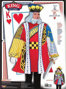 Adult King of Cards