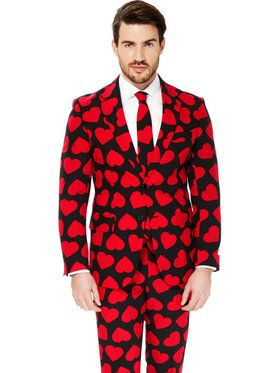 King of Hearts Suit Mens Opposuit for Halloween