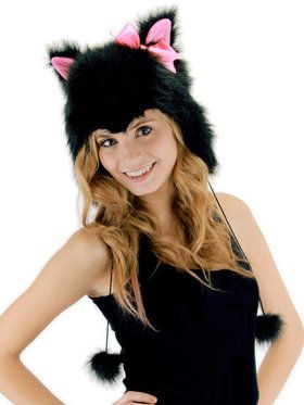 Kitty Hoodie Adult Hat