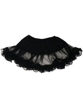 Plus Size Lace Petticoat (Black) Plus For Adults