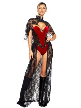 Two Piece Vampy Vixen Sassy Costume for Adults