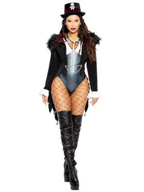3 Piece Sassy Voodoo Queen Costume for Adults